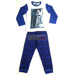 Pijama manga larga niño Star Wars - Stormtrooper 8 años 128cm azul