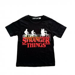 Camiseta adulto Stranger Things - Logo Talla XL negra