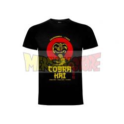 Camiseta adulto Cobra Kai Talla XL negra