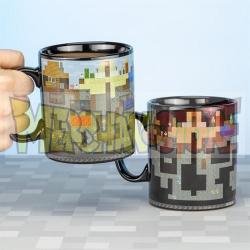 Taza cerámica termocolora Minecraft XL 550ml