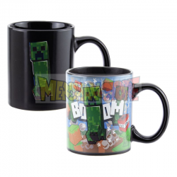 Taza térmica cerámica Minecraft - Creeper 300ml