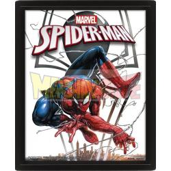 Póster lenticular 3D con marco Spider-man - Venom 28,7 x 23,5 x 4,5 cm