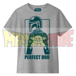 Camiseta infantil Star Wars - Mandalorian Perfect Duo gris 10 años 140cm