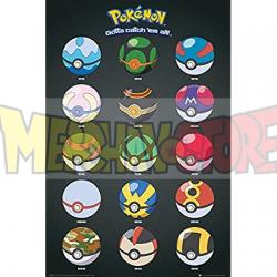 Póster Pokémon - Pokeballs 61 x 91,5 cm