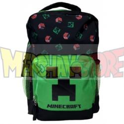 Mochila MineCraft - Creeper 36cm verde - negra