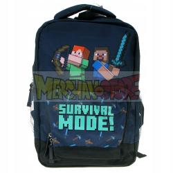 Mochila MineCraft - Survival Mode 36cm azul
