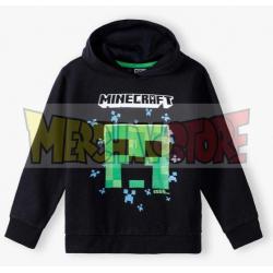Sudadera niño Minecraft negra 9 años 134cm