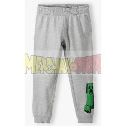 Pantalón de chándal niño Minecraft gris 8 años 128cm
