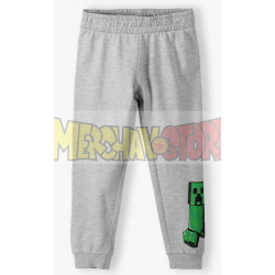 Pantalón de chándal niño Minecraft gris 12 años 152cm