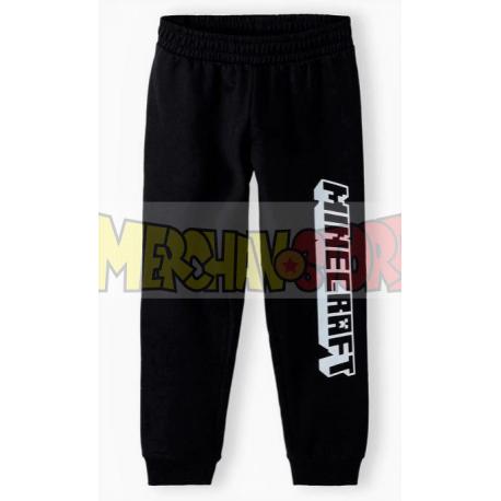 Pantalón de chándal niño Minecraft negro 9 años 134cm