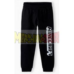 Pantalón de chándal niño Minecraft negro 10 años 140cm