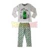 Pijama manga larga niño Minecraft gris Creeper SSSSS 9 años 134cm