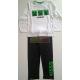 Pijama manga larga niño Minecraft blanco - negro 6 años 116cm