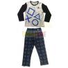 Pijama manga larga niño PlayStation gris - negro 10 años 140cm