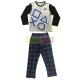 Pijama manga larga niño PlayStation gris - negro 12 años 152cm