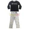 Pijama manga larga niño PlayStation negro - gris 8 años 128cm