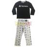 Pijama manga larga niño PlayStation negro - gris 9 años 134cm