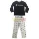 Pijama manga larga niño PlayStation negro - gris 10 años 140cm