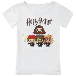 Camiseta niña Harry Potter - Chibi Group blanca 6 años 116cm