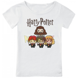 Camiseta niña Harry Potter - Chibi Group blanca 10 años 140cm