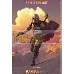 Póster The Mandalorian - On The Run 61 x 91,5 cm