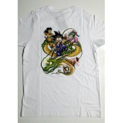 Camiseta adulto Dragon Ball - Goky y Shenron Talla S