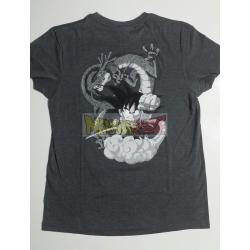 Camiseta adulto Dragon Ball - Goky y Shenron gris Talla S